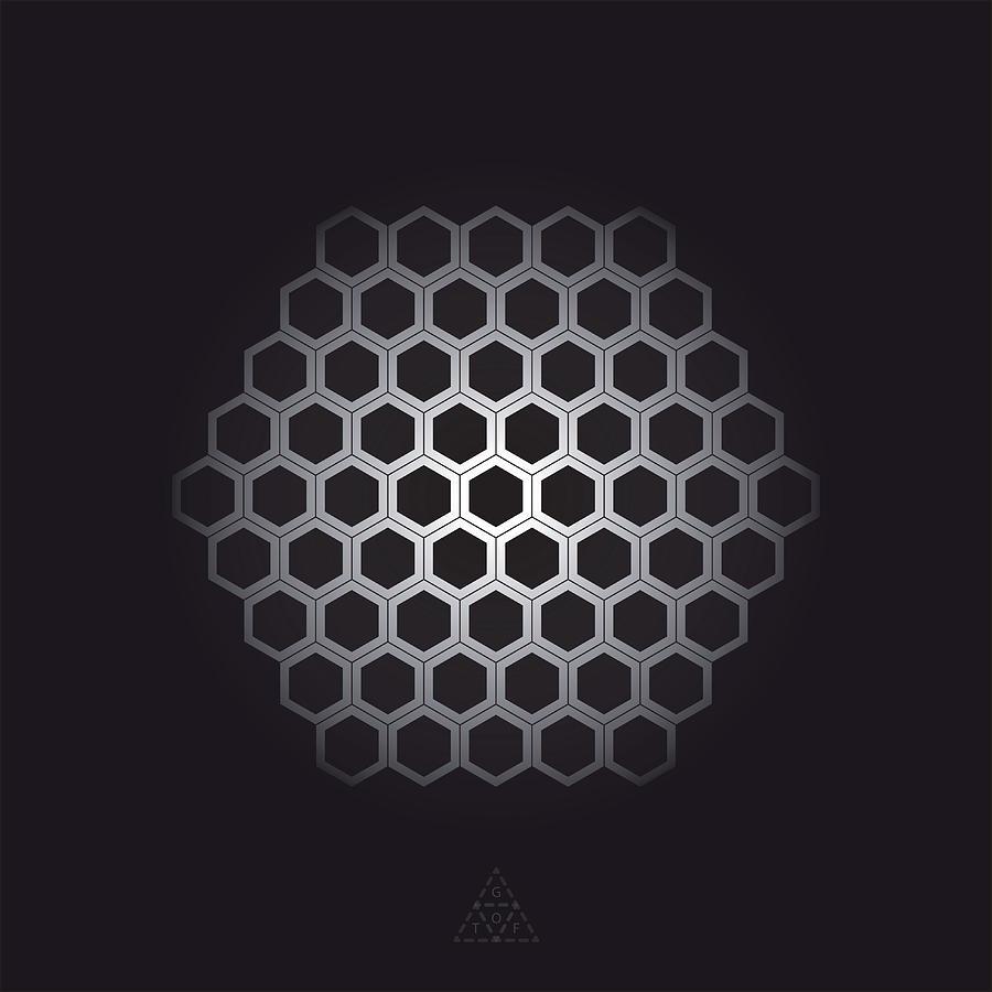 Hexagon Digital Art - Hexagonal Cells V18.1 by Guardians of the Future