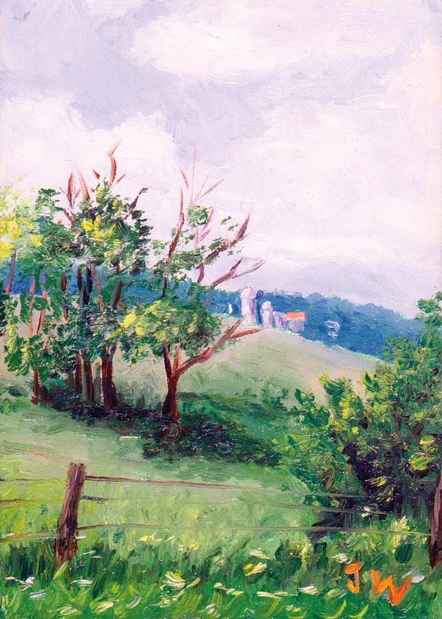 Trees Painting - Hickory Hillside by Joe Winkler