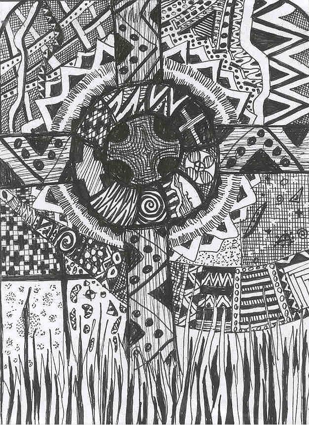 Hidden Dreams  In The Field Of Memories Drawing by Branko Jovanovic