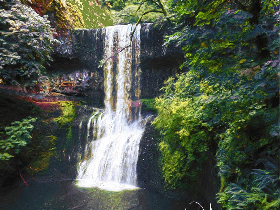 Hidden Waterfall by Carla Dreams