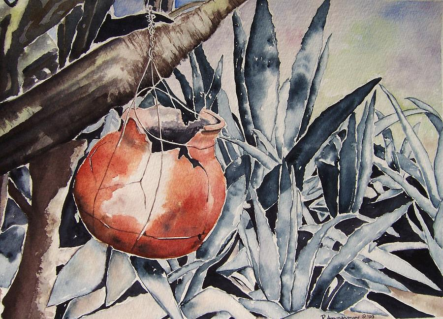 Clay Pots Painting - Hide And Seek by Regina Ammerman