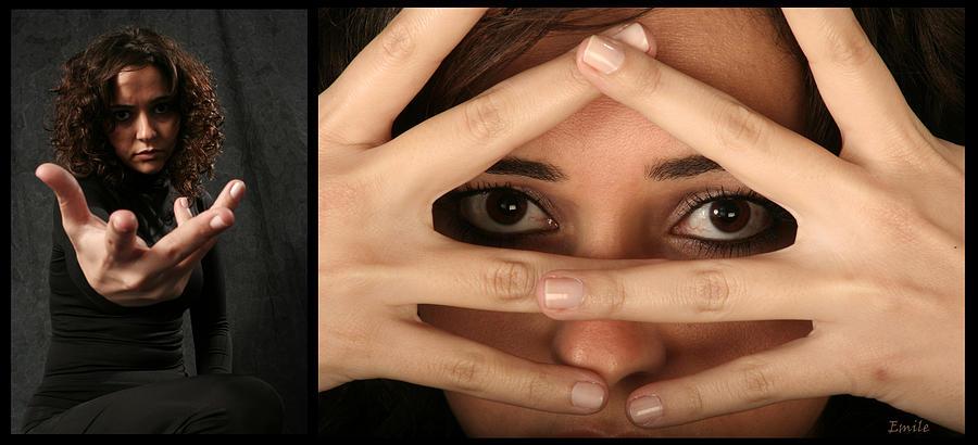Masks Photograph - Hiding by Emile Ibrahim