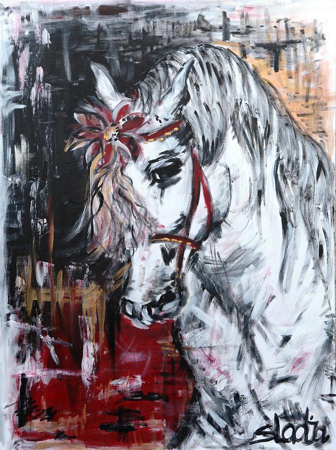 Animals Painting - Hiding Something? by Sladjana Lazarevic