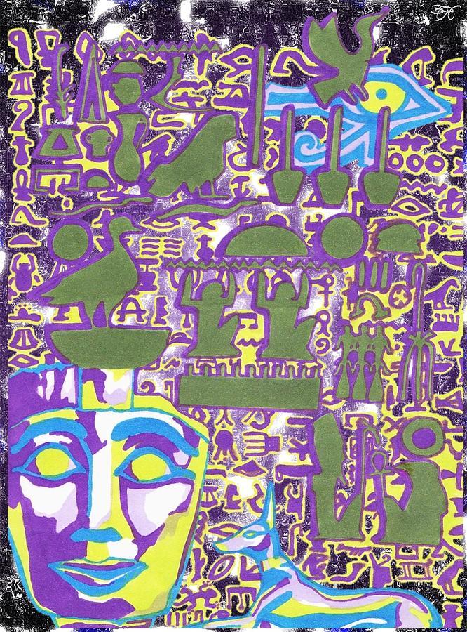 Hieroglyphics Mixed Media - Hieroglyphics by Ben Leary