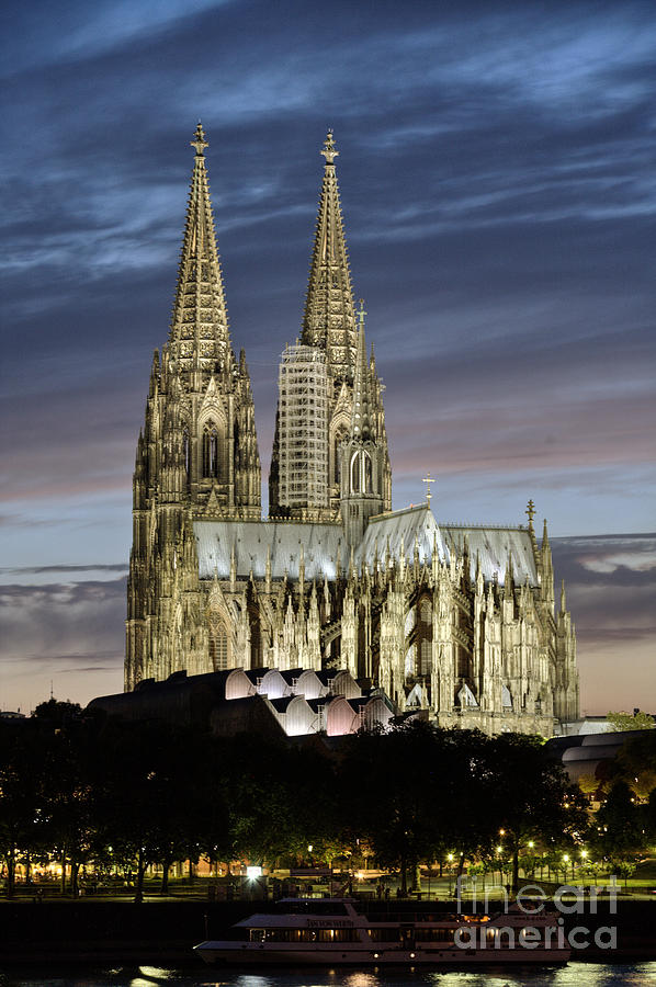 Cologne Cathedral Photograph - High Cathedral Of Sts. Peter And Mary In Cologne by Heiko Koehrer-Wagner