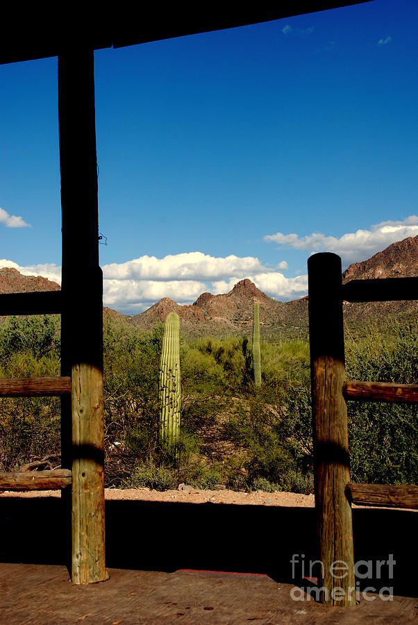 High Chaparral Photograph - High Chaparral Old Tuscon Arizona  by Susanne Van Hulst
