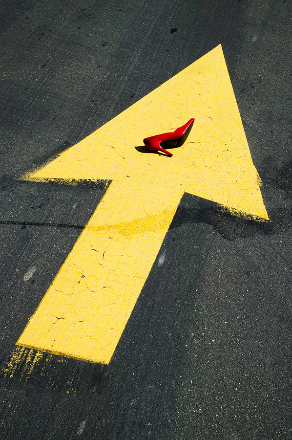 Red Photograph - High Heel And Arrow by Garry Gay