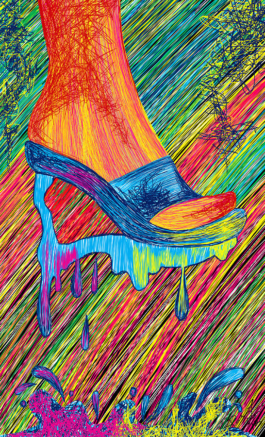High Heels Abstraction Painting by Kenal Louis