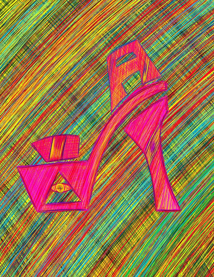 High Heels Series Drawing - High Heels Power by Kenal Louis
