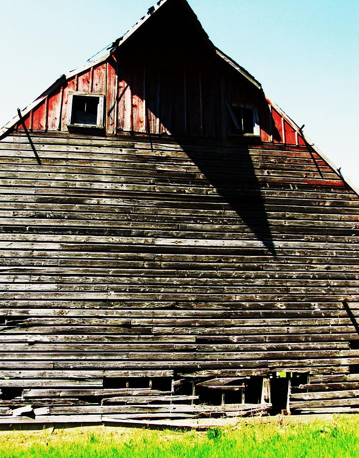 Barn With Shadows Photograph - High Noon by Todd Sherlock
