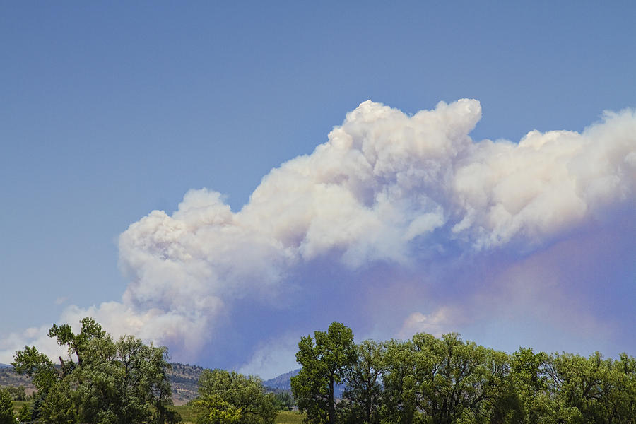 'high Park' Photograph - High Park Fire Larimer County Colorado  by James BO  Insogna