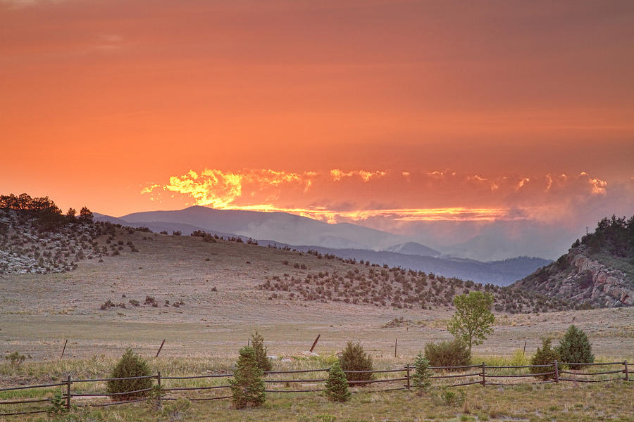 Colorado Photograph - High Park Wildfire At Sunset by James BO  Insogna