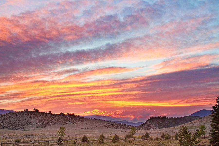 Colorado Photograph - High Park Wildfire Sunset Sky by James BO  Insogna