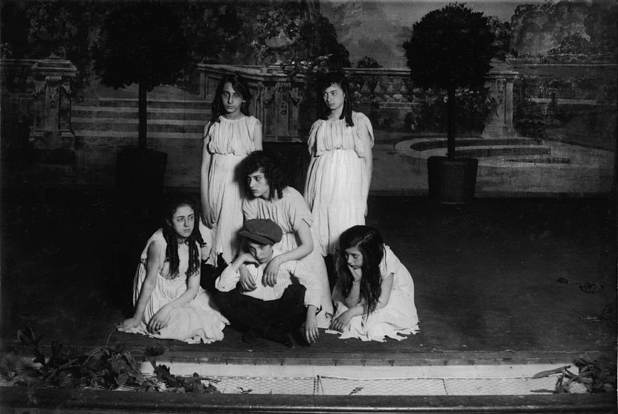1910s Photograph - High School Play, Original Caption Miss by Everett
