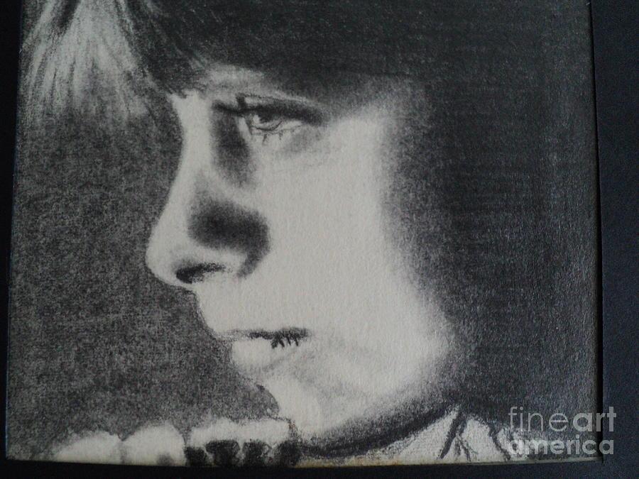 Little Girl Drawing - High School Senior Year Art Class First Drawing by Carla Carson
