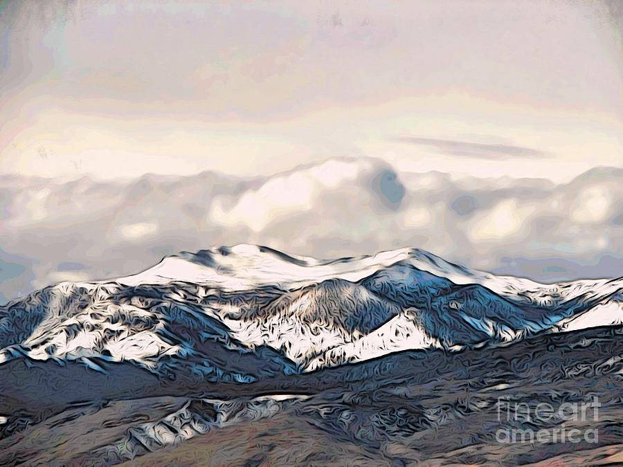 Snow Photograph - High Sierra Mountains by Phyllis Kaltenbach