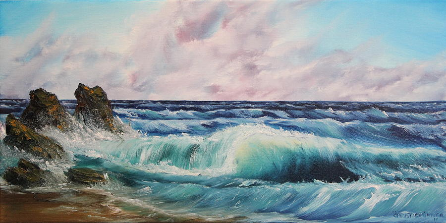 High Tide Painting By Christie Minalga