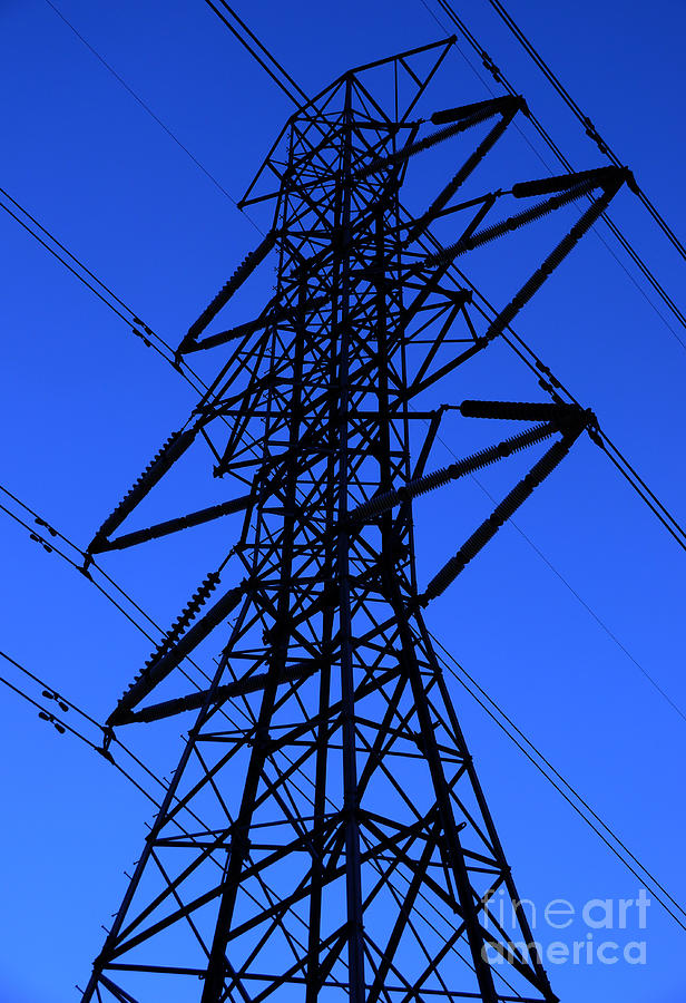 High Voltage Power Lines : High voltage power line silhouette photograph by gary whitton