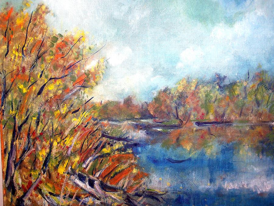 Highbridge Slough 2 Painting by Jon Shepodd