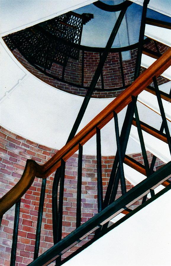 Stairs Painting - Highland Light Interior by Karol Wyckoff