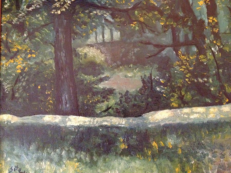 Landscape Painting - Highland Park 1 by Victor SOTO