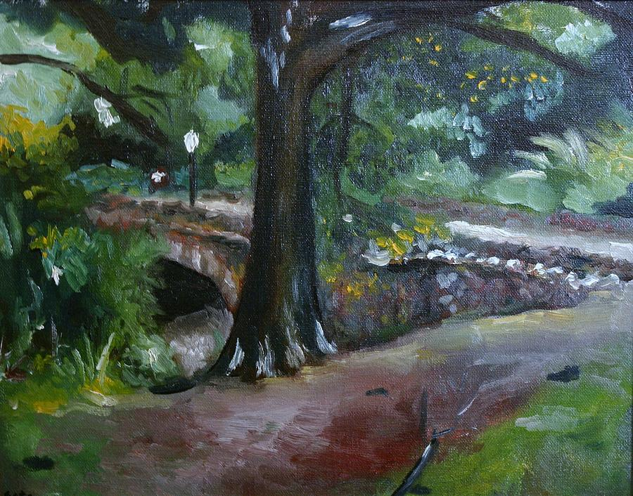 Landscape Painting - Highland Park Path by Victor SOTO