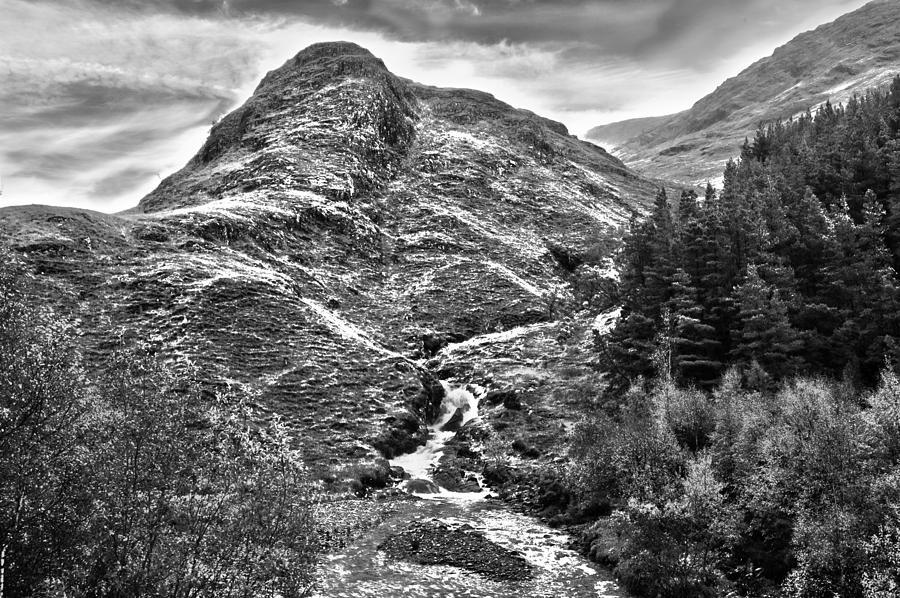 Scotland Photograph - Highland Stream Bw by Paul Prescott