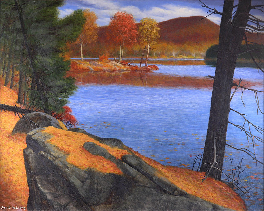 Lake Painting - Highlands Octoberscape by Glen Heberling