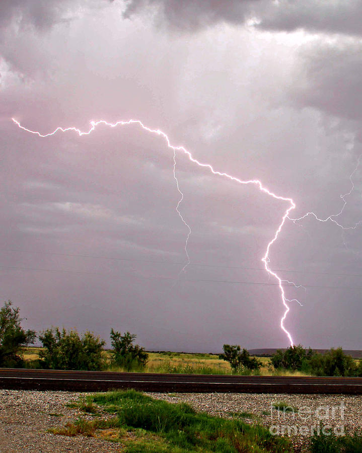 Lightning Photograph - Highway 380 Strike by Shawn Naranjo