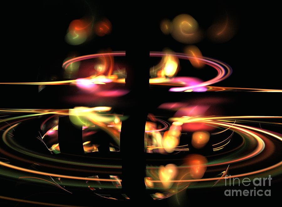 Apophysis Digital Art - Highway Lights by Kim Sy Ok
