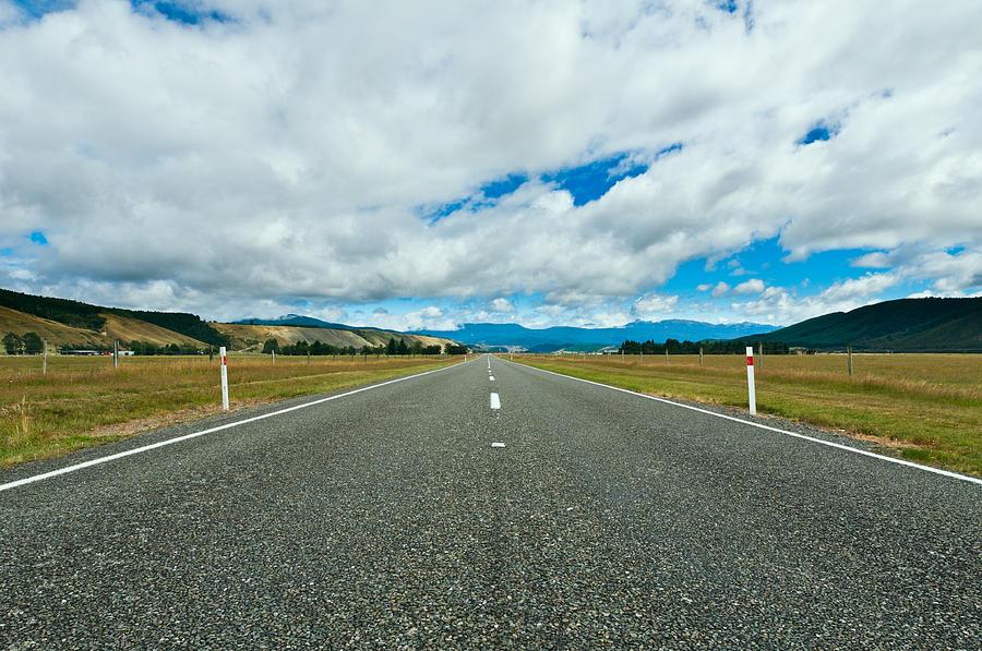 Asphalt Photograph - Highway Through The Countryside  by Ulrich Schade