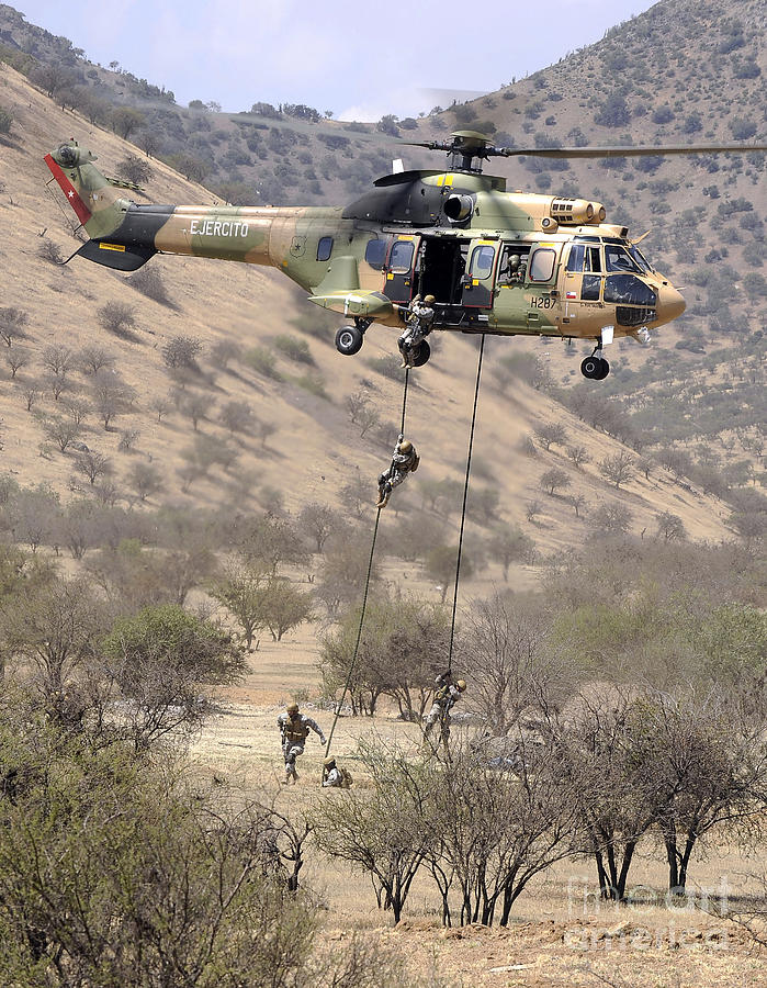 Foreign Military Photograph - Hilean Special Forces Perform An Air by Stocktrek Images