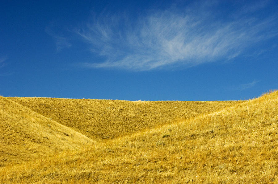 Agriculture Photograph - Hills And Clouds, Cypress Hills by Mike Grandmailson