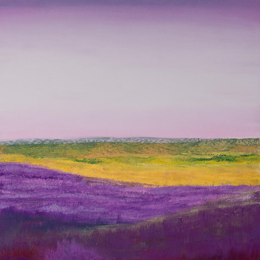 Pastel Painting - Hills Of Lavender by David Patterson