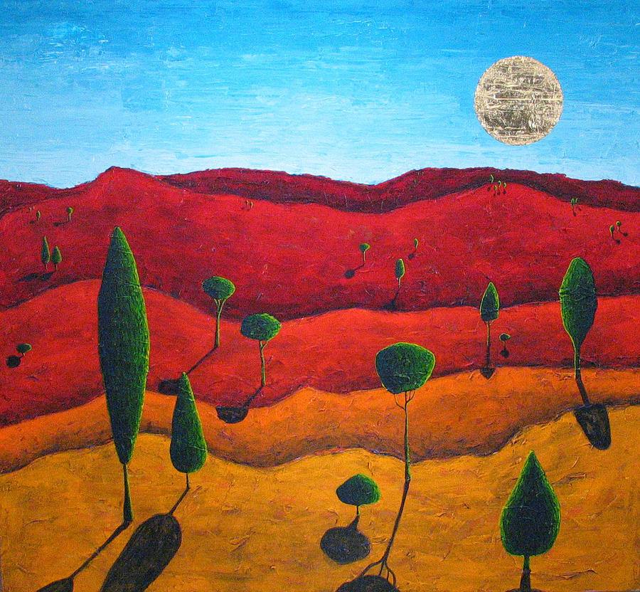 Landscape Painting - Hills of Red II by Rollin Kocsis