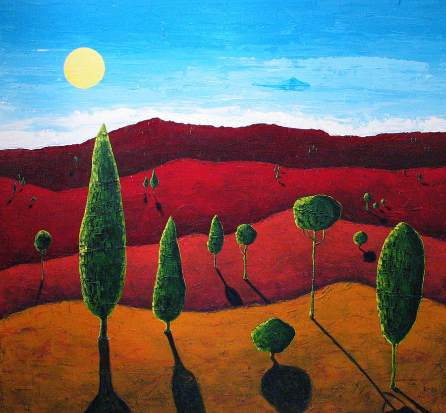 Landscape Painting - Hills of Red III by Rollin Kocsis