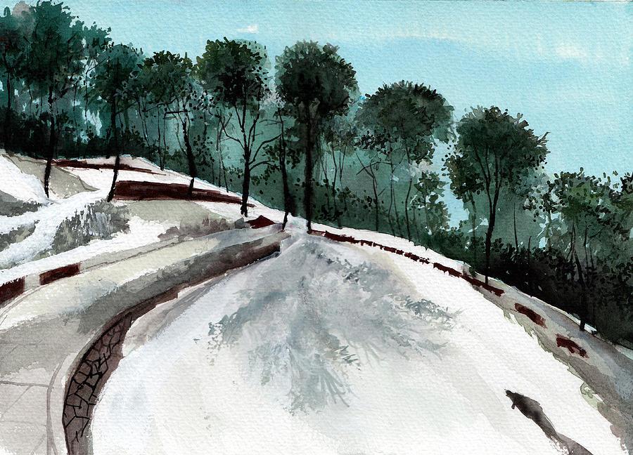 Tree Painting - Himalaya 2 by Anil Nene