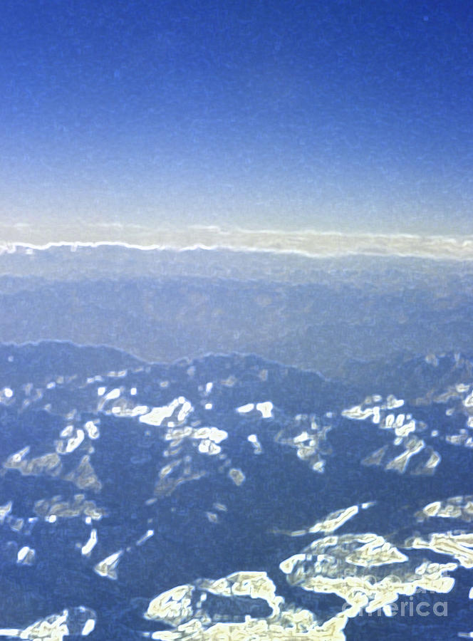 Jrr Photograph - Himalayas Blue by First Star Art