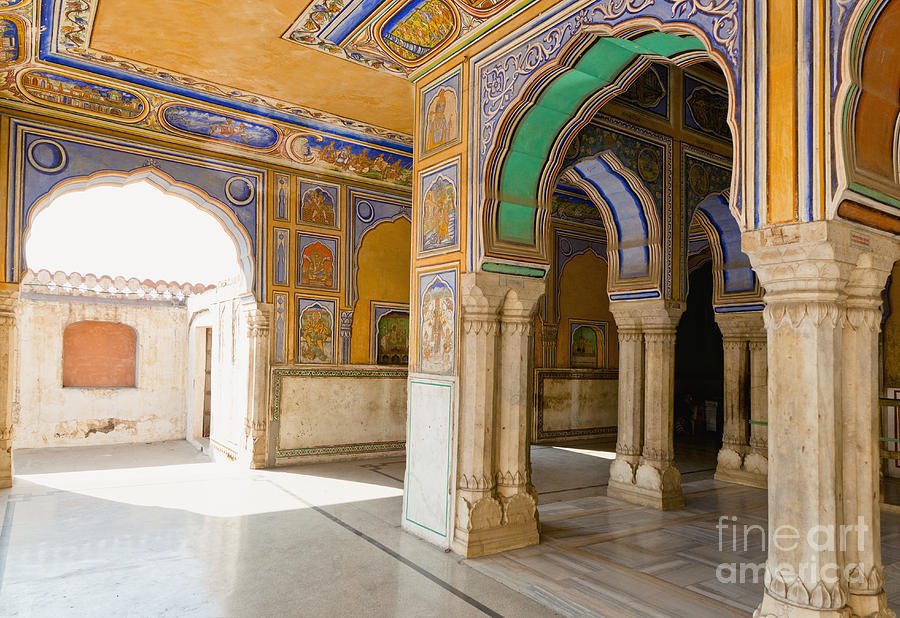 Arch Photograph - Hindu Palace Interior by Inti St. Clair