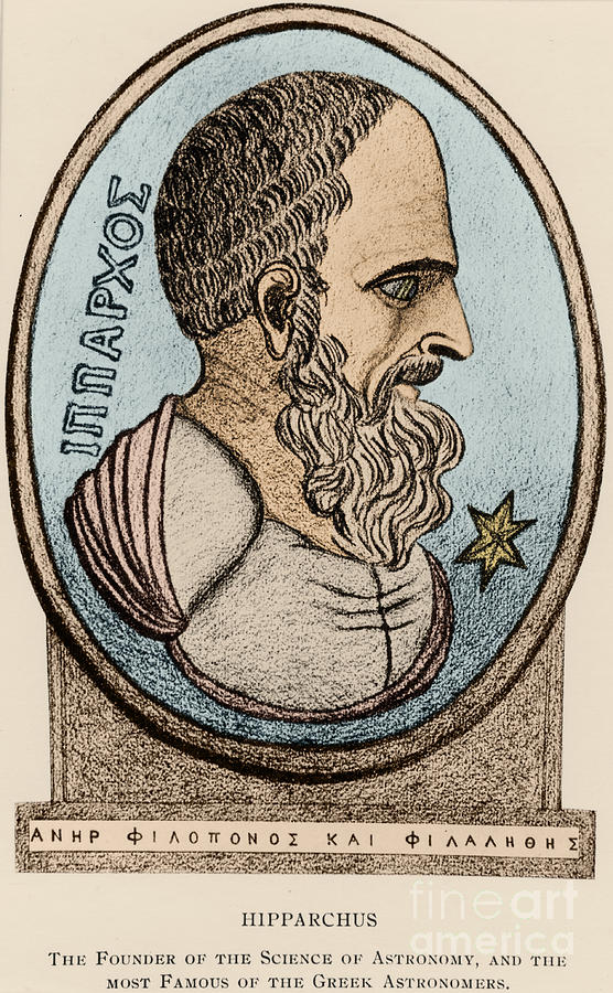 Science Photograph - Hipparchus, Greek Astronomer by Photo Researchers, Inc.