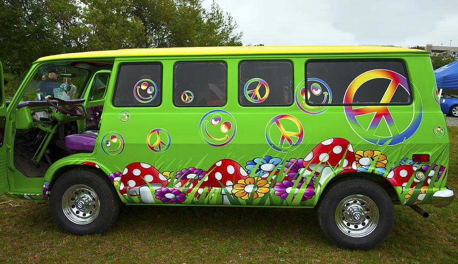 Hippie Van Photograph By Glenn Gordon