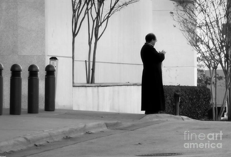 Priest Photograph - His Flock by Fred Lassmann