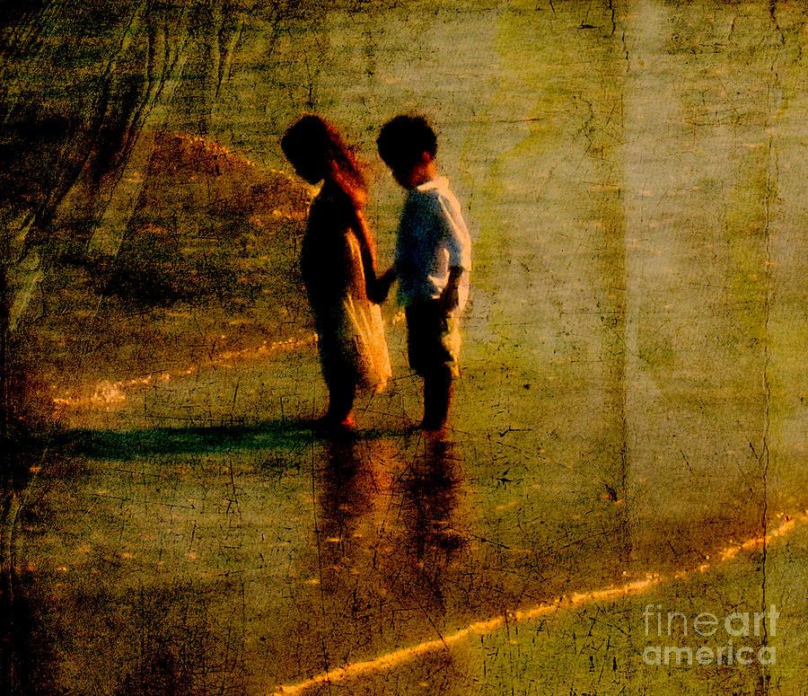 Kids Photograph - His Kindergarten Sweetheart by Susanne Van Hulst