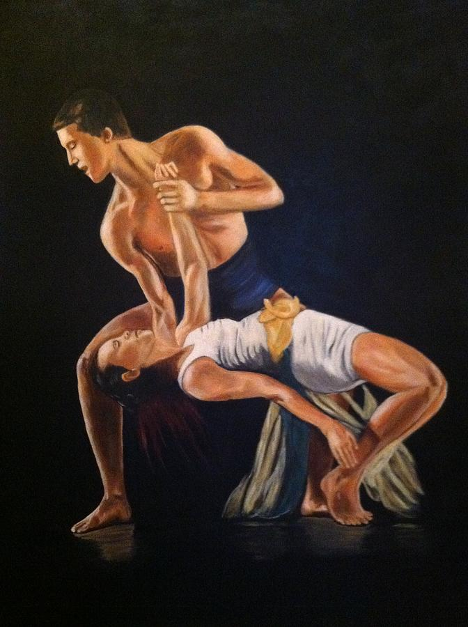 Dance Painting - His Passion by Lynette Brown