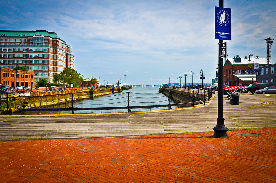 Boardwalk Photograph - Historic Boston Boardwalk by Erica McLellan