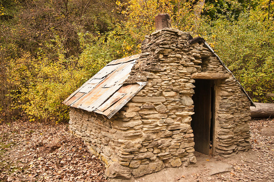 Stone Photograph - Historic Gold Miners Stone Cottage by Graeme Knox