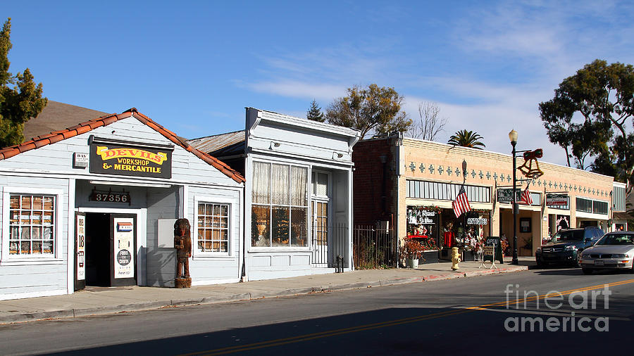 Long Size Photograph - Historic Niles District In California Near Fremont . Main Street . Niles Boulevard . 7d10676 by Wingsdomain Art and Photography