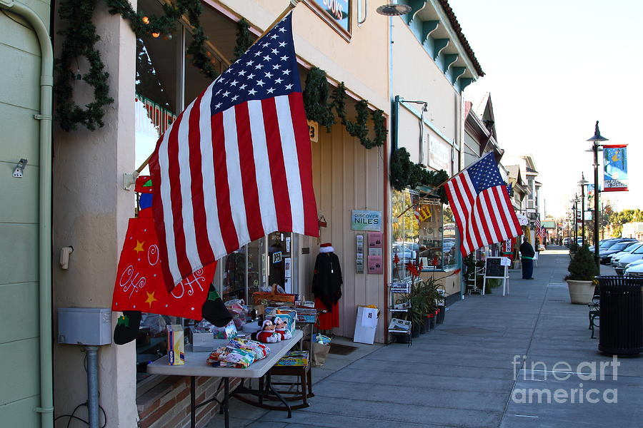 Americana Photograph - Historic Niles District In California Near Fremont . Main Street . Niles Boulevard . 7d10692 by Wingsdomain Art and Photography
