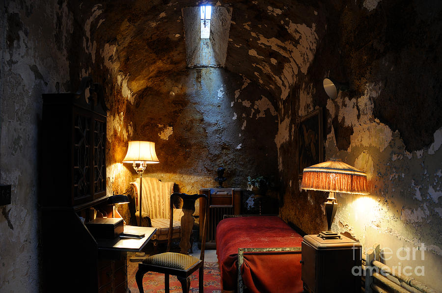 Historic Photograph - Historic Prison Cell Of Al Capone by Gary Whitton