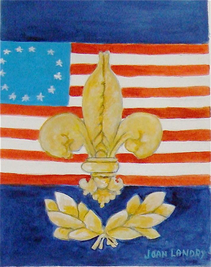 Fleur De Lys Painting - Historic Symbols by Joan Landry